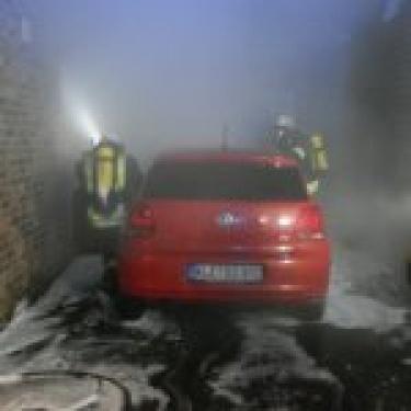 Feuerwehr Rees – Fahrzeugbrand