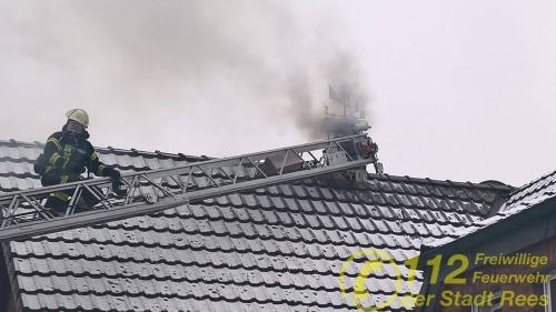 Feuerwehr Rees – Kaminbrand