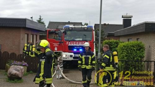 Feuerwehr Rees – Kellerbrand