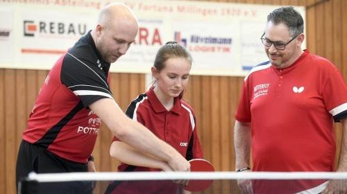 Tischtennis: Alexander Daun besucht Fortuna