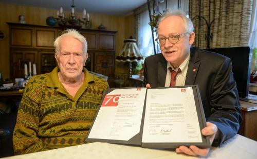 Rees: Schon seit 70 Jahren bei der IG Metall