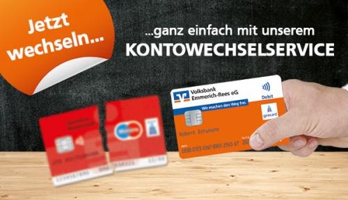 Kontowechselservice - Volksbank Emmerich-Rees eG