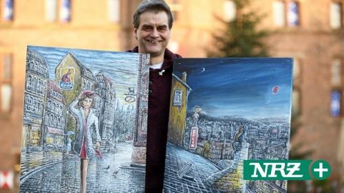 Rees: Thomas Dieckmann malt Bilder mit Lupe und Zahnstocher | nrz.de | Emmerich Rees Isselburg
